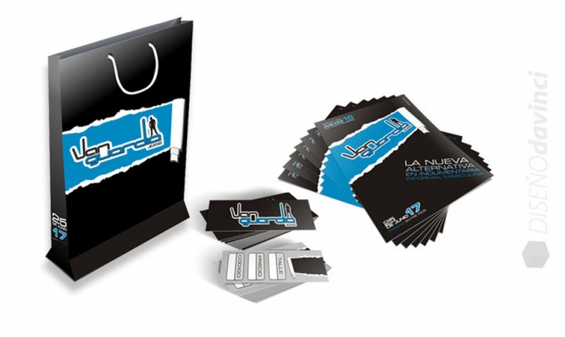 VANGUARDIA Jeans | Packaging, flyer y media tarjeta