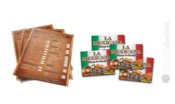 LA MEXICANA   Imanes y Carta menú