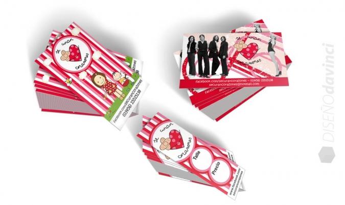 Se Curan Corazones   Tarjetas comerciales y media tarjeta